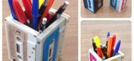 Ideias de artesanato com fitas cassete