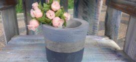 DIY – Vaso de cimento artesanal – Aprenda a fazer em casa