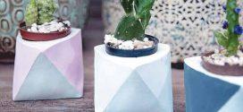 DIY – Vaso geométrico – Saiba como fazer em casa