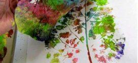 Dicas de pintura artesanal com folhas naturais