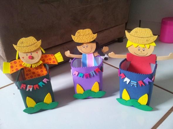 Ideias de artesanato com materiais reciclados para festa junina # Decoração De Festa Junina Com Materiais Reciclados