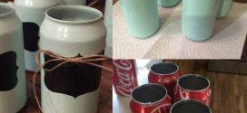 Artesanato com latinhas de refrigerante