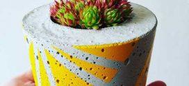 Como fazer vaso de concreto artesanal em casa