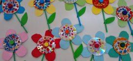 Objetos de decoração feitos com  CD's e DVD's usados