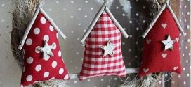 Enfeites de natal com retalhos de tecido – aprenda a fazer