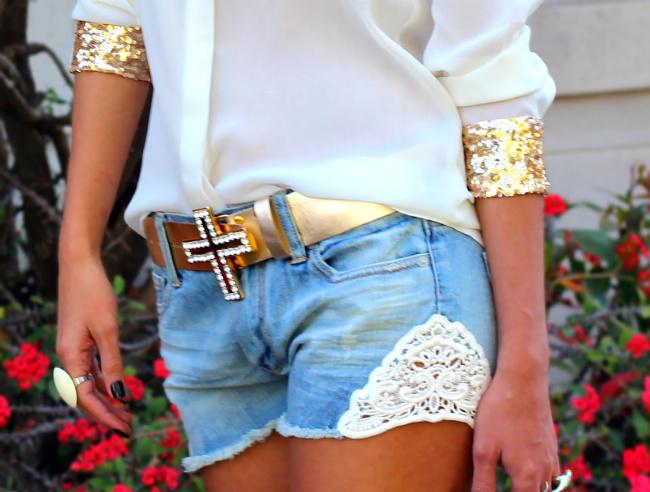 Calça jeans personalizada short 1