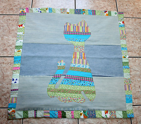Como fazer tapete de retalhos 15