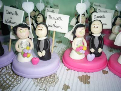 Lembranças de casamento em biscuit 04
