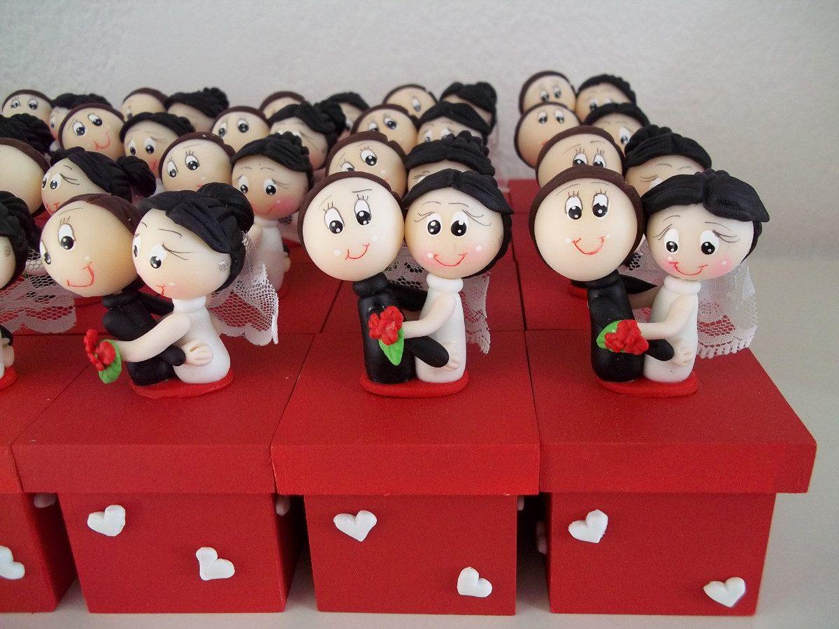 Lembranças de casamento em biscuit 07