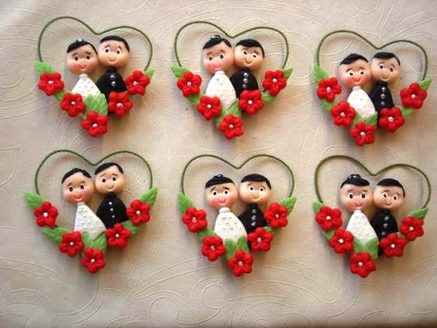 Lembranças de casamento em biscuit 08