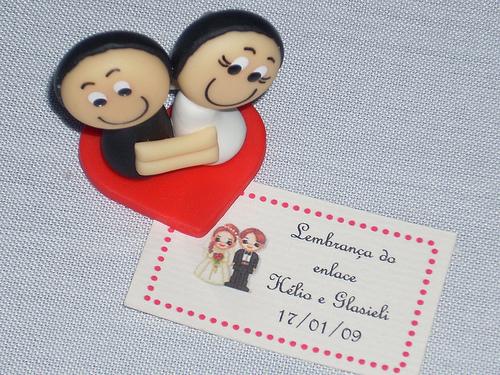 Lembranças de casamento em biscuit 10
