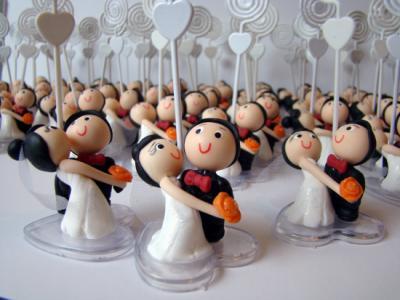 Lembranças de casamento em biscuit 11