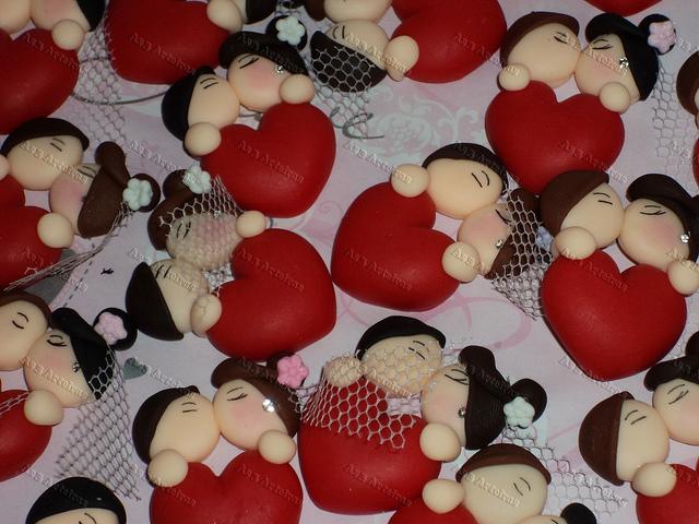 Lembranças de casamento em biscuit 12