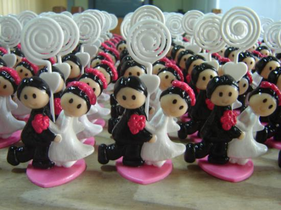 Lembranças de casamento em biscuit 13