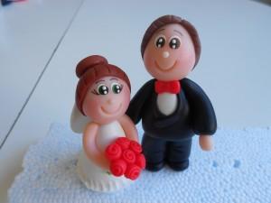 Lembranças de casamento em biscuit 16