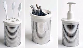 Porta objetos feito com lata 12