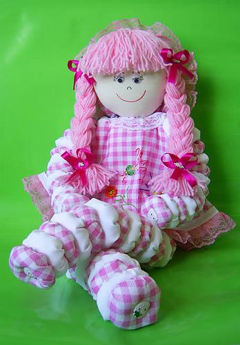 Como fazer boneca de pano 11