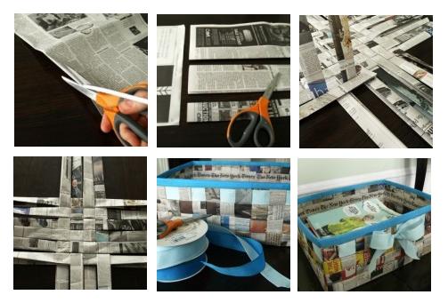 Como fazer cesto de jornal 12