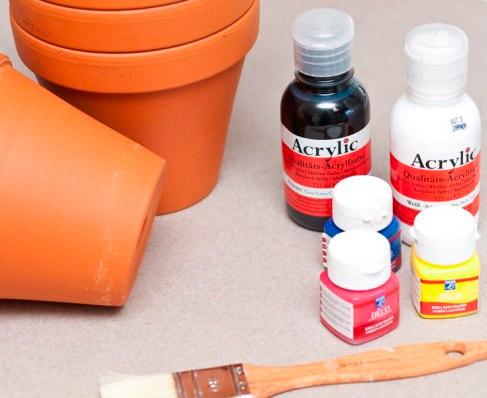 Como pintar vasos de cerâmica 02