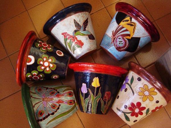 Como pintar vasos de cerâmica 05