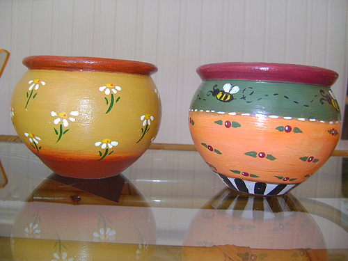 Como pintar vasos de cerâmica 13