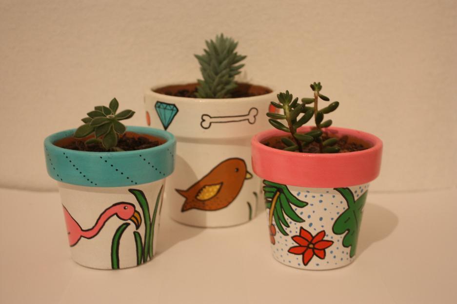 Como pintar vasos de cerâmica 16
