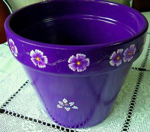 Como pintar vasos de cerâmica 17