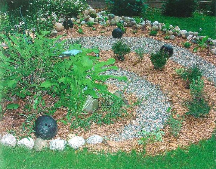 Jardins decorados com pedras 07