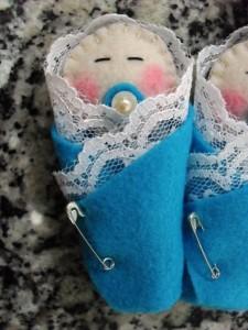 Lembrancinhas de chá de bebê em feltro 01