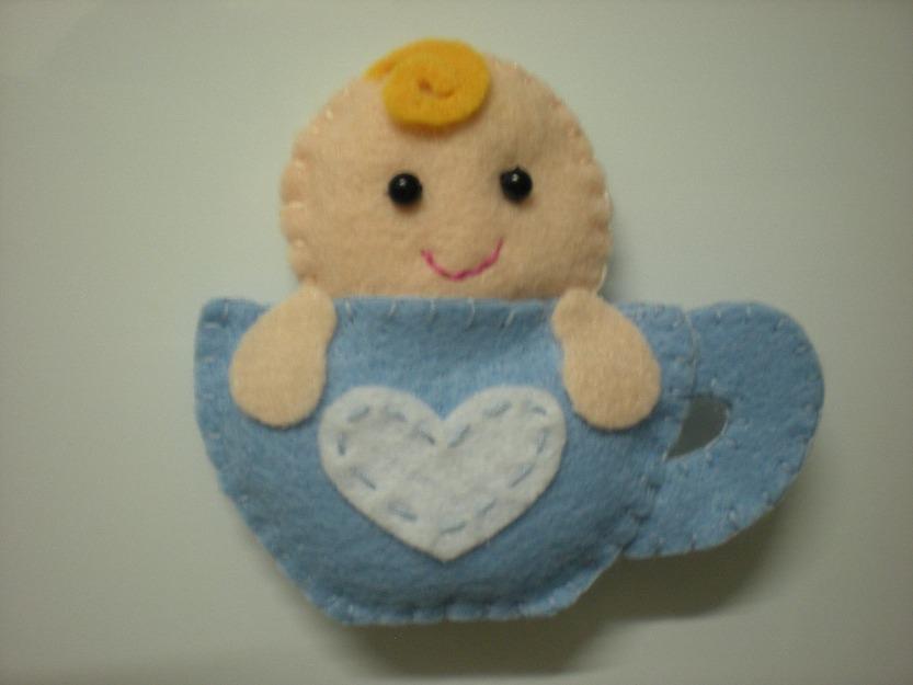 Lembrancinhas de chá de bebê em feltro 15
