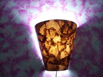 Luminária com filtro de café 13