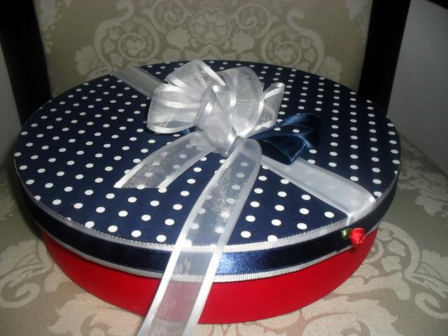 Caixa de presente forrada com tecido 04