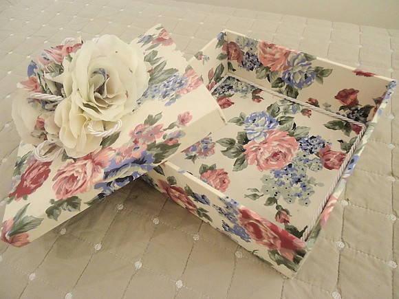 Caixa de presente forrada com tecido 06