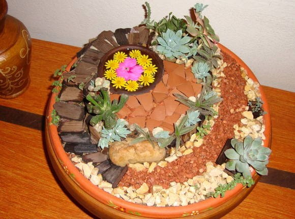 Como fazer um mini jardim decorativo 004