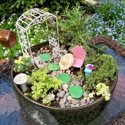 Como fazer um mini jardim decorativo 009
