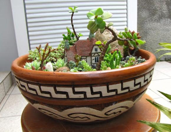 Como fazer um mini jardim decorativo 010
