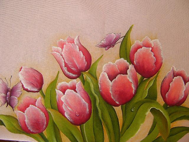 Pintura em pano de prato 08