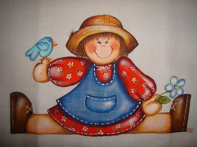 Pintura em pano de prato 11
