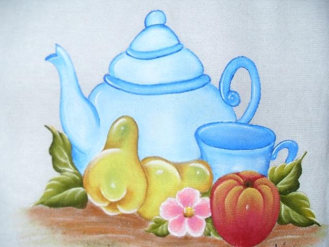 Pintura em pano de prato 15