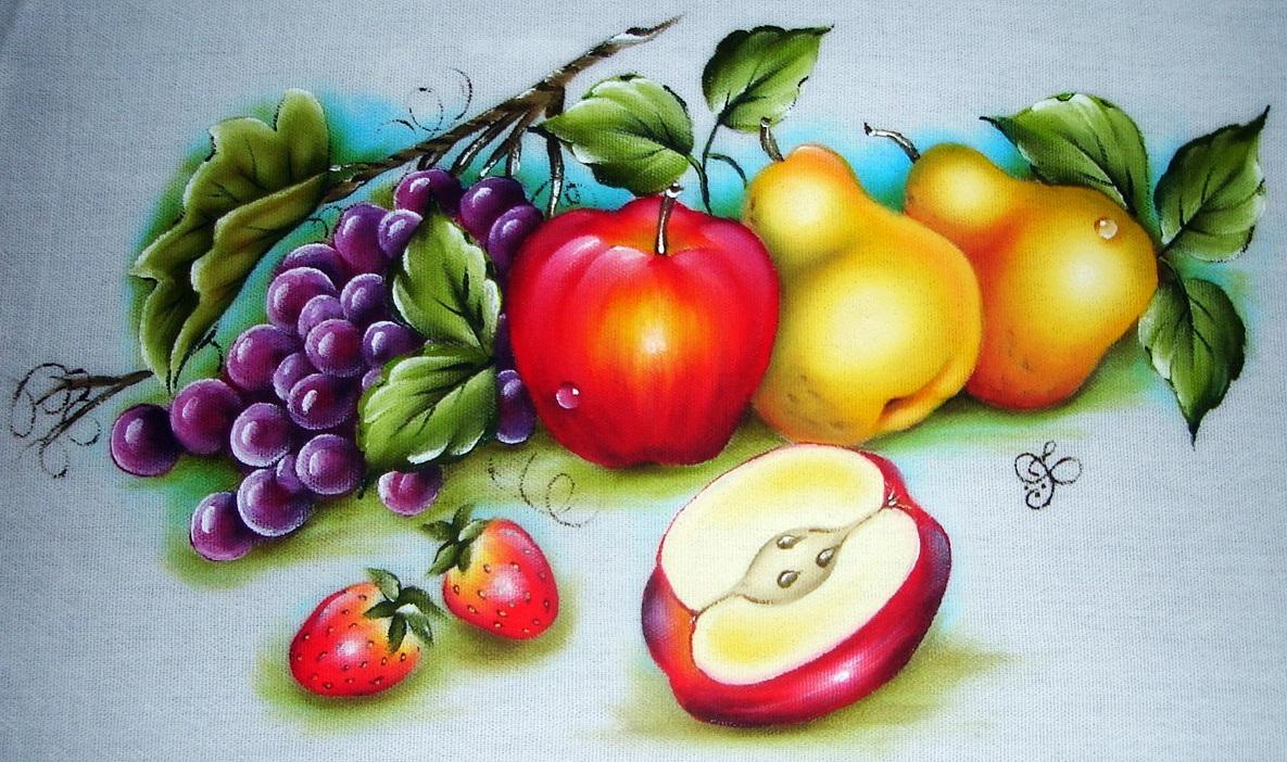 Pintura em pano de prato 17