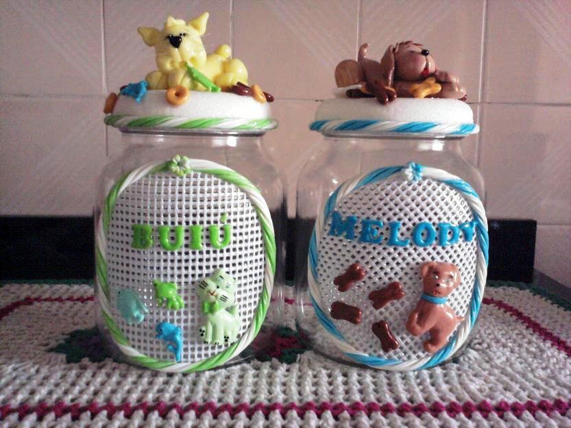 Potes de vidro decorados 06