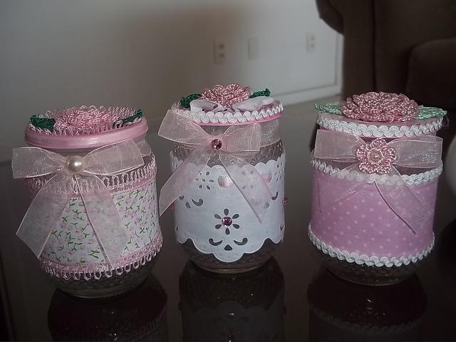 Potes de vidro decorados 10