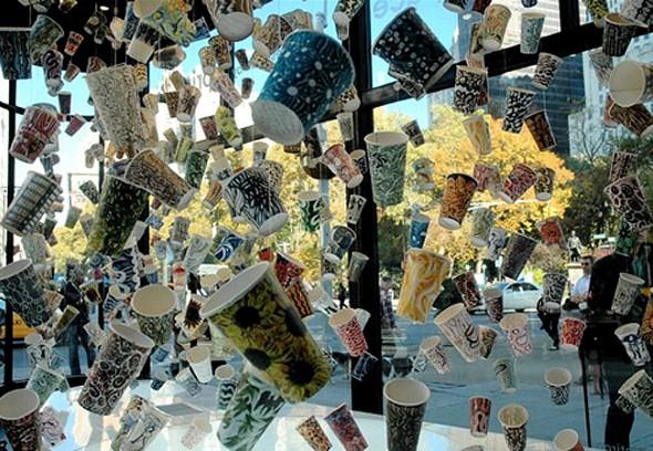 Artesanato com copo descartável 010