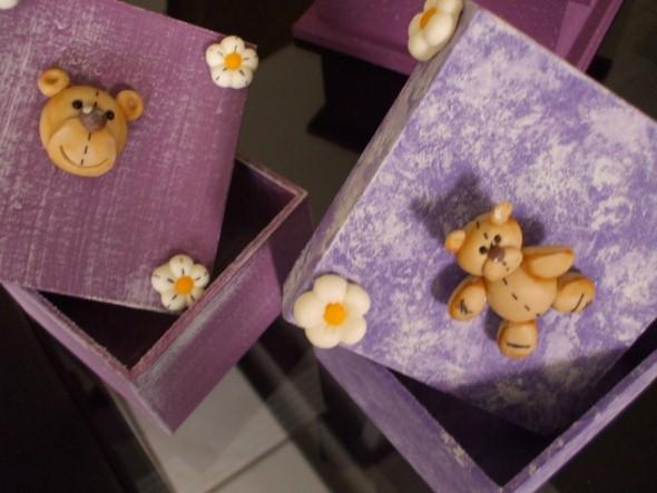 Caixas de MDF enfeitadas com biscuit 03