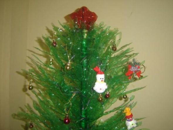 Como fazer árvore de natal artesanal 003