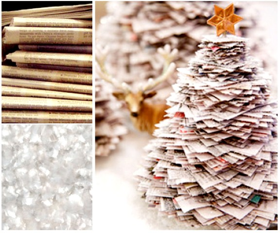 Como fazer árvore de natal artesanal 006