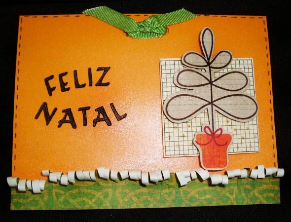 Como fazer cartão de natal artesanal 011