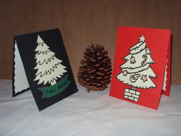 Como fazer cartão de natal artesanal 012