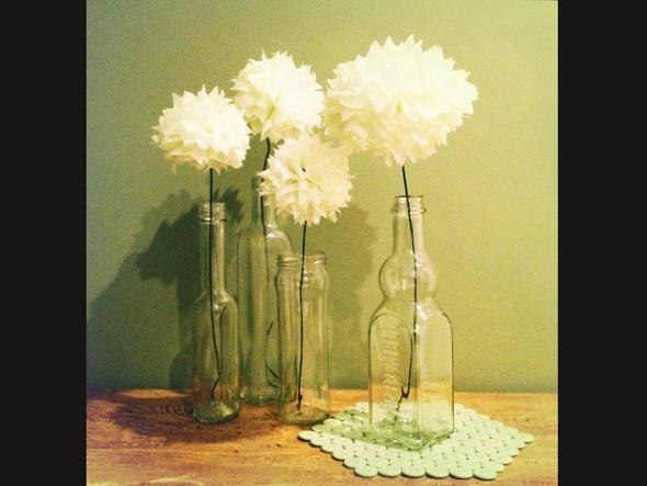 Como fazer flor de papel para decoração 07