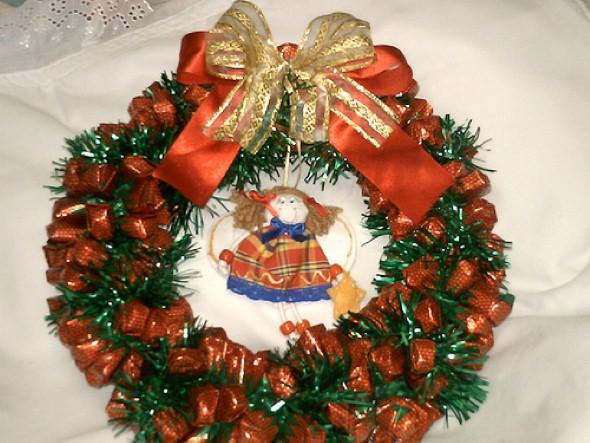 Guirlanda de Natal artesanal 003